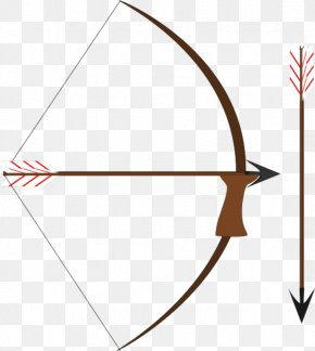 Bow And Arrow Vector Clip Art - Bow And Arrow Archery Clip Art PNG