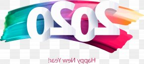 Banner Magenta - Happy New Year 2020 Happy 2020 2020 PNG