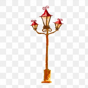 Hand-painted Street Lights - Street Light PNG