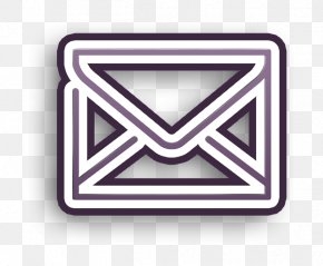 Triangle Technology - Envelope Icon Letter Icon Mail Icon PNG