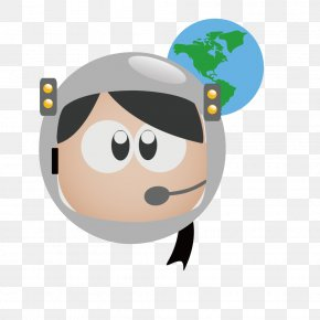 Vector Simple Hand-painted Astronaut Avatar - Job Profession Clip Art PNG