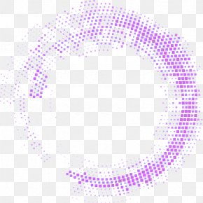 Purple Fresh Spotted Circle Effect Element - Purple Area Pattern PNG