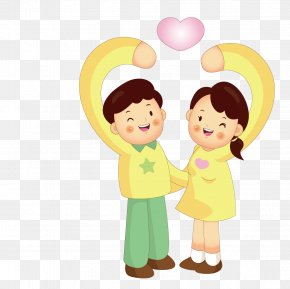 Make Gestures Of Love Couple - Gesture Heart Love Child PNG