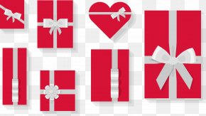 Vector Red Gift Box Collection - Gift Box Illustration PNG