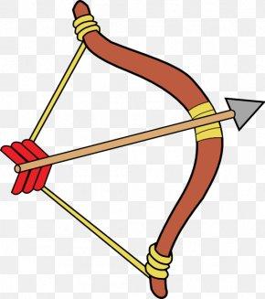 Bow And Arrowcartoon Image - Bow And Arrow Archery Clip Art PNG
