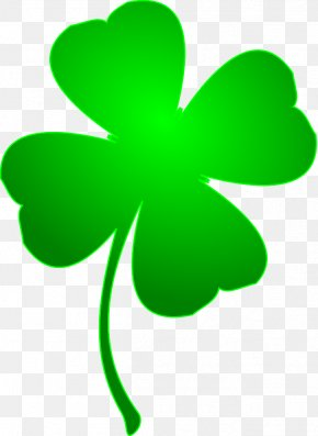 Lucky Charm Cliparts - Ireland Shamrock Saint Patrick's Day Four-leaf Clover Clip Art PNG