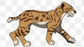 Saber-toothed Cat - Saber-toothed Cat Tiger Lion Animal PNG