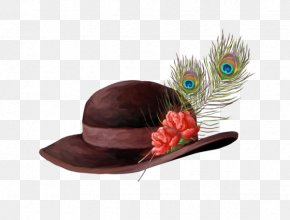 Feather Hat - Feather Hat Bonnet Cap PNG