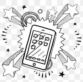 Cartoon Mobile Phone - Thumb Signal Drawing PNG