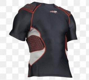 Padded - T-shirt Padding American Football Shoulder Pads PNG