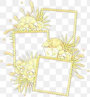 Yellow Floral Design - Floral Design PNG