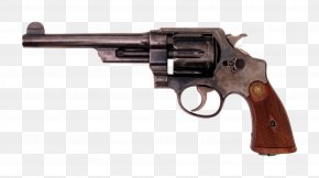 Gun - Smith & Wesson Triple Lock Revolver Hand Ejector .44 Special PNG