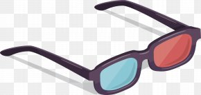 3D Glasses Vector - 3D Film Stereoscopy Cinema Polarized 3D System PNG