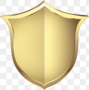 Gold Security Shield - Shield Computer File PNG