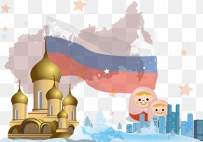 Vector Colorful Russia - Russia Euclidean Vector PNG