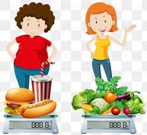 Junk Food And Healthy Food Compare - Junk Food Health Clip Art PNG