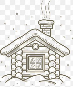 Hand Drawn Sketch House Chimney Pattern - Drawing House Line Art PNG