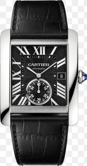 Men's Watch - Cartier Tank Automatic Watch Movement PNG