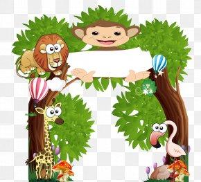 Kindergarten Animals - Cartoon Illustration PNG