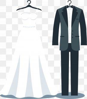 Suit Vector - Tuxedo Wedding Dress Suit Bride PNG