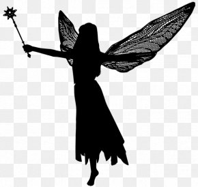 Silhouette - Silhouette Fairy Clip Art PNG