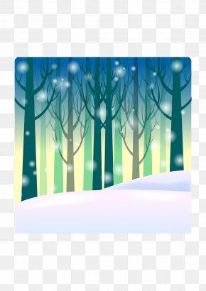 Cartoon Winter Background - Cartoon Winter Clip Art PNG