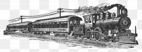 Railroad Tracks - Train Rail Transport Steam Locomotive Clip Art PNG