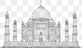 Vector Artwork Taj Mahal - Taj Mahal Drawing Stock Photography Illustration PNG