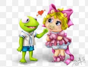Couple Cartoon - Miss Piggy Kermit The Frog Animal Beaker Muppet*Vision 3D PNG