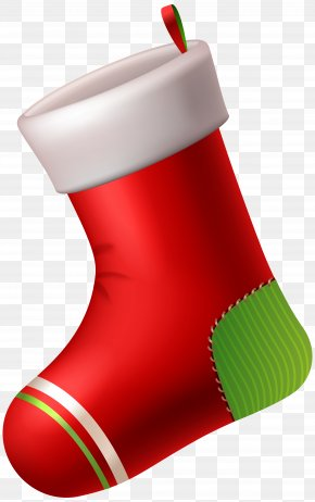 Red Christmas Stocking Clip Art - Santa Claus Christmas Stocking Candy Cane Clip Art PNG