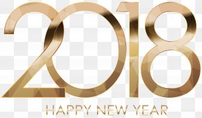 2018 Happy New Year Gold PNG