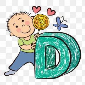 Cartoon Boy - Letter Abcd For Kids Alphabet Illustration PNG