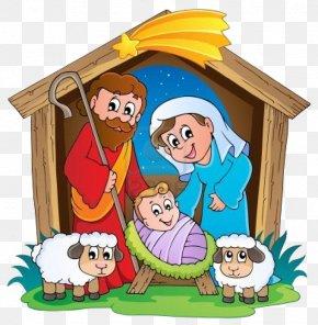Christmas - Christmas Drawing Nativity Of Jesus PNG
