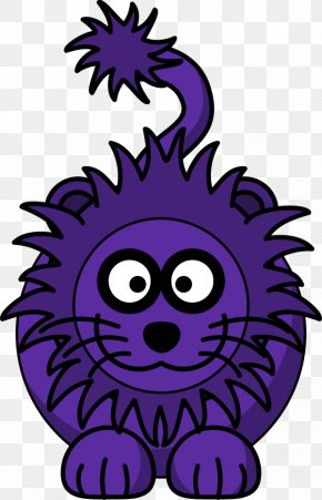 Cartoon Lion Head - Lion Roar Clip Art PNG