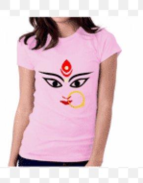 Durga Maa - Printed T-shirt Top Crew Neck PNG