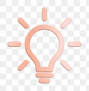 Gesture Peach - Idea Icon Minimal Universal Theme Icon Light Bulb Icon PNG