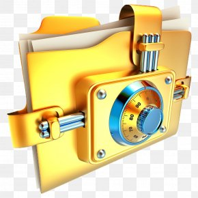 Cartoon Folder Lock - Stock Photography Document Royalty-free Information PNG
