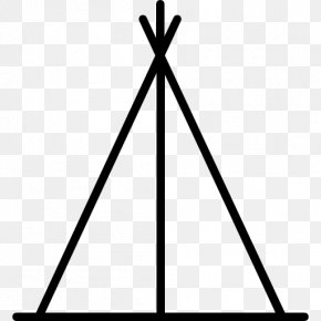 Tipi - Monochrome Photography Black And White Triangle PNG