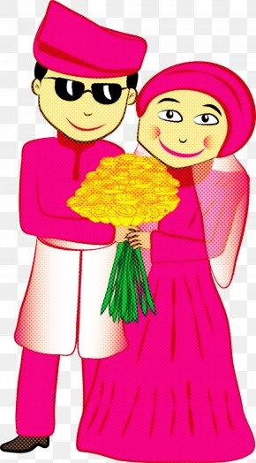 Magenta Happy - Pink Cartoon Interaction Smile Happy PNG