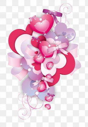 Vector Creative Heart-shaped Pearl Floral - Heart Adobe Illustrator PNG