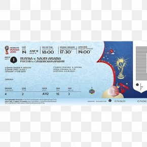 Football - 2018 FIFA World Cup Ticket Football FIFA World Cup Trophy PNG
