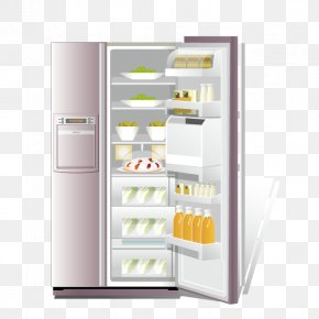 Refrigerator - Refrigerator Euclidean Vector PNG