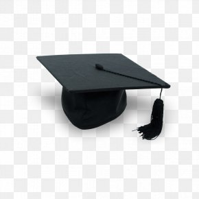 Small Black Graduation Cap - Square Academic Cap Graduation Ceremony Hat Clip Art PNG