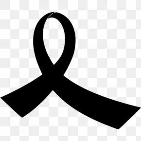 Black Ribbon Icon - Black Ribbon Clip Art Paper PNG