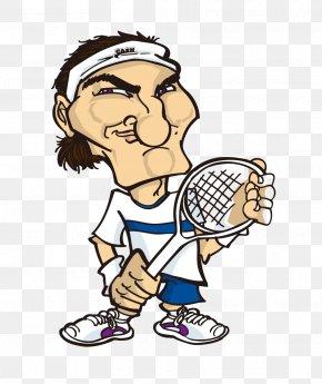 People Playing Badminton Cartoon - Cartoon Badminton Download Illustration PNG