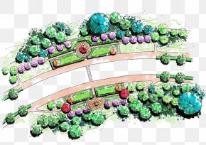 Hand-painted Park - Park Plan PNG