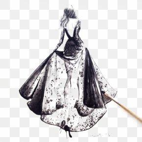 High-end Women's Dress Illustration - Paris Fashion Week Fashion Illustration Haute Couture Illustration PNG