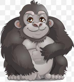 Cute Gorilla - Western Gorilla Ape Clip Art PNG