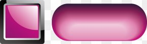 Pink Button Material - Brand Rectangle PNG