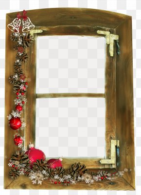 Creative Christmas - Christmas Window Picture Frame PNG